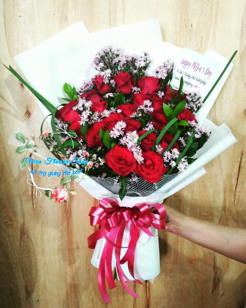 Detail Produk Buket Bunga Mawar Merah Bunga Valentine Bunga Wisuda Bunga Anniversary Hadiah Bunga Mawar