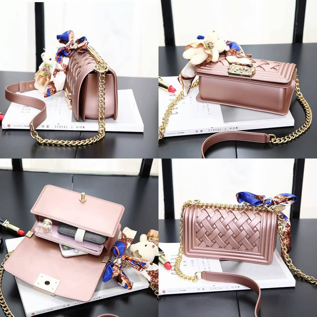 2a55c696d37f Detail Produk Tas Wanita / Bag for women Jelly chanel boy - pink