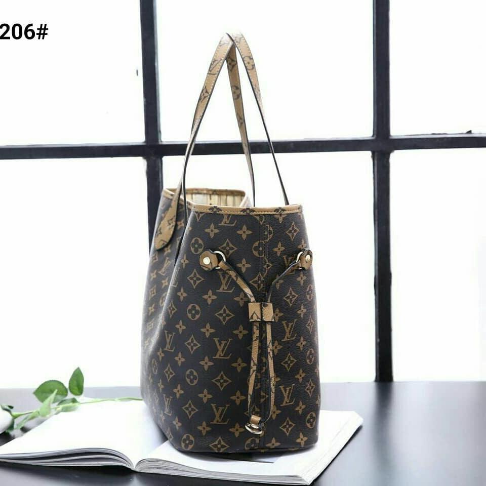 Detail Produk Tas Wanita / Bag for women Louis Vuitton Neverfull Bag - Damier