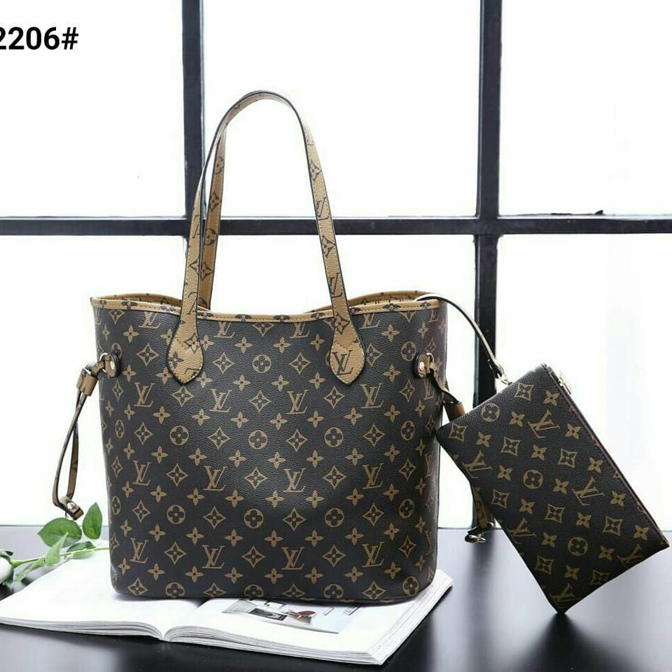 Tas Wanita / Bag for women Louis Vuitton Neverfull Bag - Damier