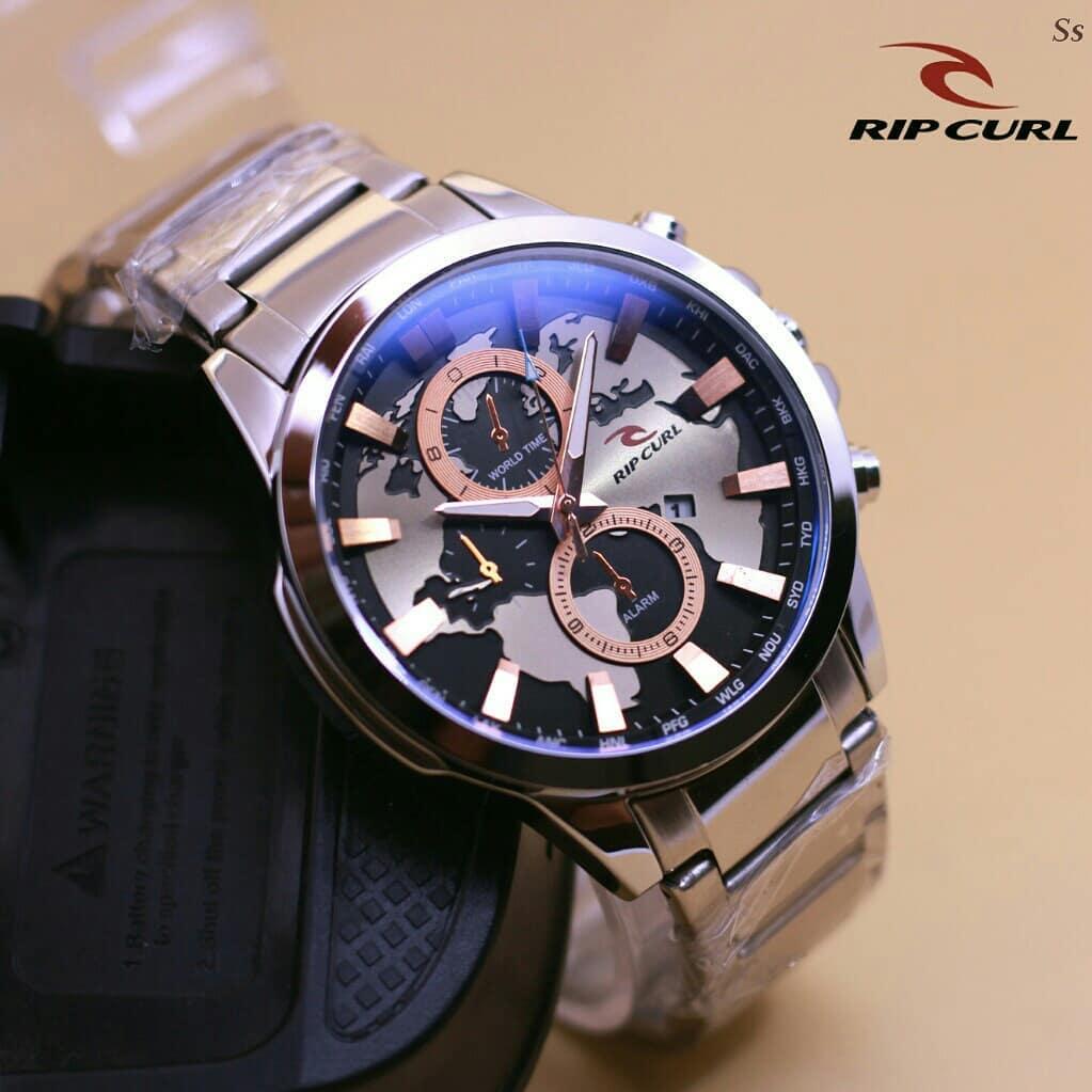 Jam tangan Pria / Watch for Men Ripcurl - silver combine gold