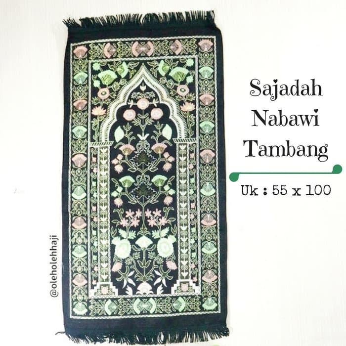 Sajadah Nabawi Tambang Tanggung Traveling Murah - hitam