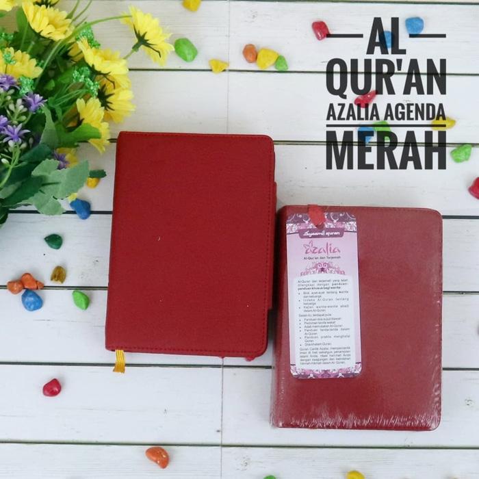 Al Quran Azalia Agenda/Al Quran Rainbow Saku Diary (Special For Woman) - merah
