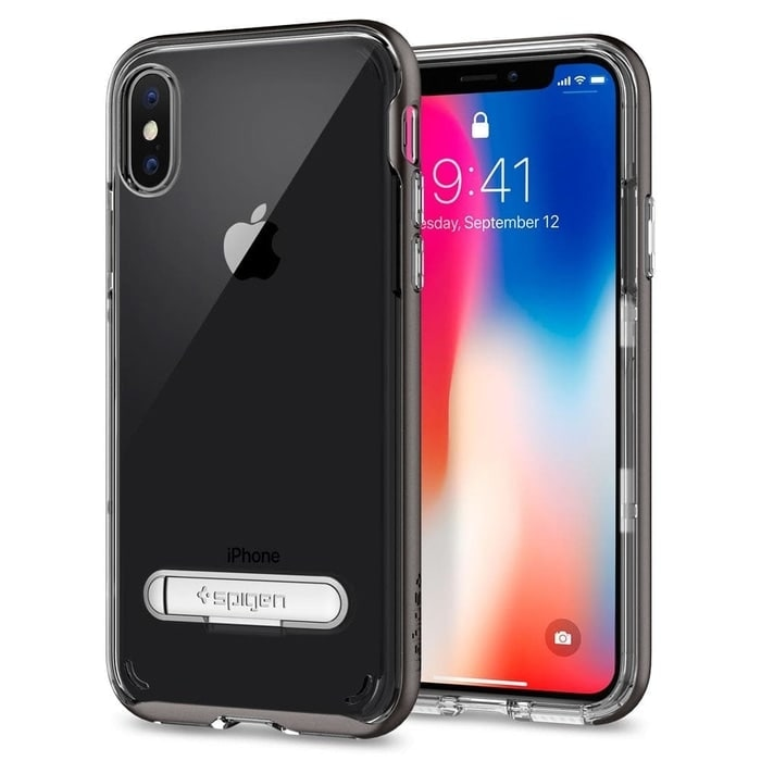 Spigen Crystal Hybrid Case for iPhone X Gunmetal